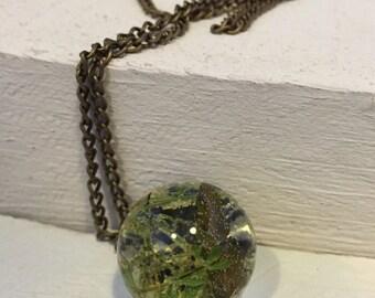 Botanical Necklace - woodland moss and fern