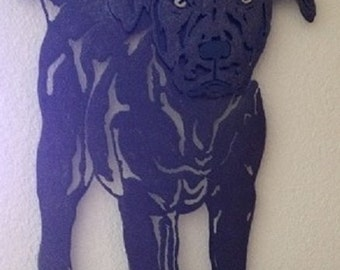 Stanley and the Stick - Immortalize Your Furry Friend in a Custom Metal Pet Portrait