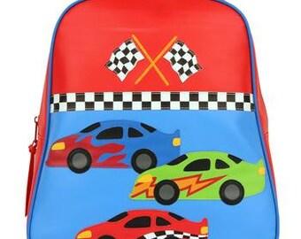 Stephen Joseph Go Go Backpack for Boys Race Car Monogrammed School Backpack