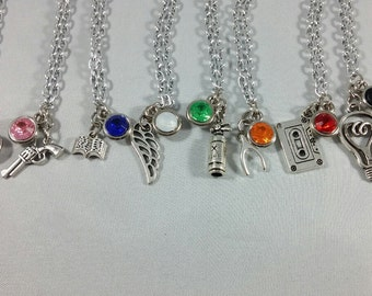 Stranger Things Inspired Mini Jewel & Charm Necklaces - Will, Mike, Lucas, Dustin, Eleven, Joyce, Hopper, Nancy, Jonathan, Steve