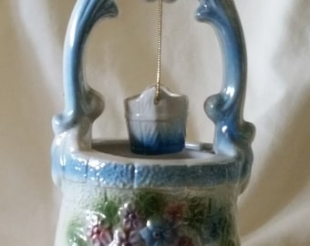 Vintage flower container/ wishing well