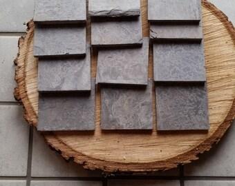 Vintage slate/set of 12/Custom cut