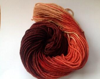 Sale yarn Hand dyed Bulky Merino Yarn ~ Chocolate Orange