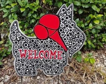 Scottie Dog Metal Art, Scottish Terrier Yard Art, Garden dog, metal garden art, gift for scottie lover, gift for dog lover, yard decoration