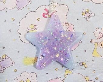 Sparkling glittery star necklace