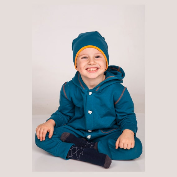 items similar to kids sweatsuit blue hooded overall kids. Black Bedroom Furniture Sets. Home Design Ideas