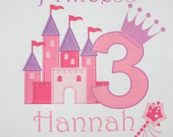 Princess birthday shirt personalized