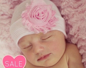 Newborn outfit girl, hospital beanie, coming home outfit, baby girl hat, newborn hat, infant girl hat, baby hospital hat, hospital bow hat