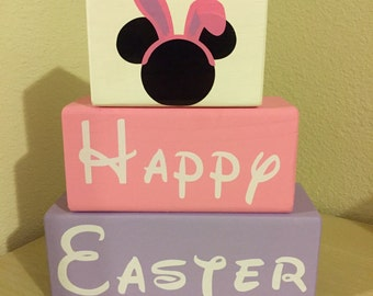 Disney Minnie Mouse Easter blocks