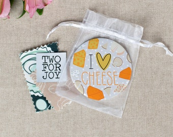 I Love Cheese -  Large Pocket Mirror