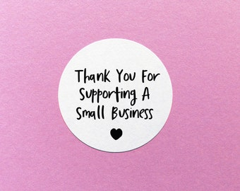 Thank You Stickers, Small Business Label, Thank You For Supporting A Small Business, Happy Post Stickers, Packaging Stickers, Support Small