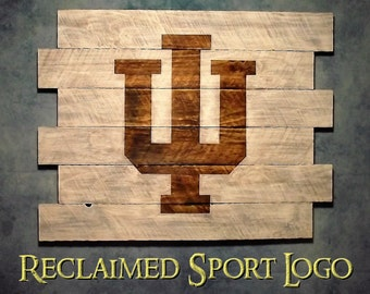 Indiana University, Whitewash, FREE UV protector, 30X23, Burnt wall hanging, Shou Sugi Ban, Charred wood, Sports sign, Wood Sports sign