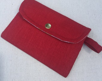 Red Robin Small Red Clutch