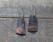 Etched Copper Earrings by YeouDesigns