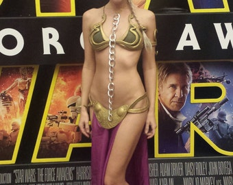 Princess Leia Metal Slave Bikini Inspired Costume Star Wars Cosplay Fantasy SciFi Sexy