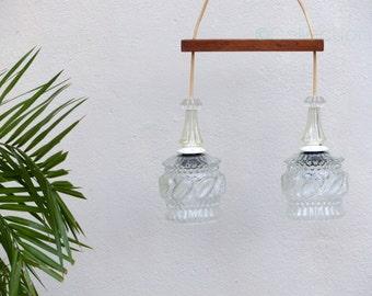 chandelier 70s - vintage suspension - mid century during