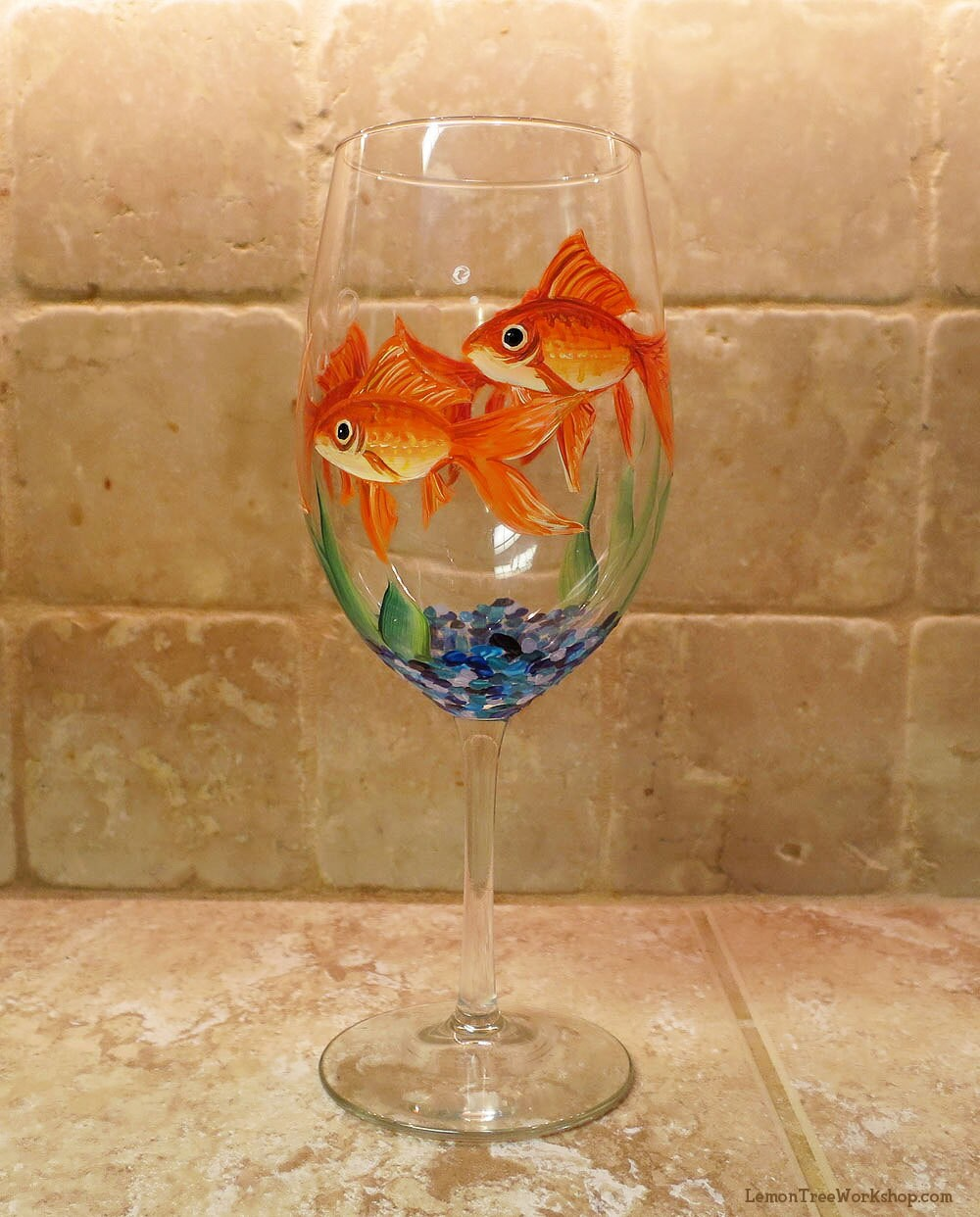 Painted glass fish for Painted glass fish