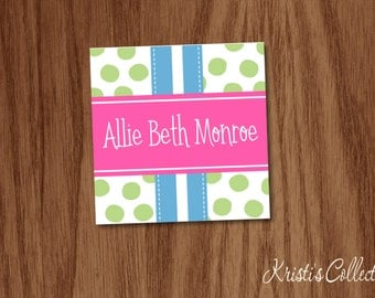 Personalized Gift Tags or Stickers, Personalized Calling Cards, Personal Business Cards, Gift Inserts Enclosure Cards, Girls Gift Tags