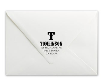 Custom Self-Inking Stamp - Personalized Stamp - Name Stamp - Address Stamp - Tomlinson Address Stamp