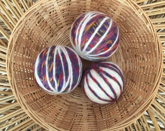 Felted Wool Dryer Balls, Set of 3, Free Shipping!