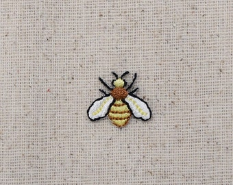 Mini Hornet - Yellowjacket - Bee - Iron on Applique - Embroidered Patch