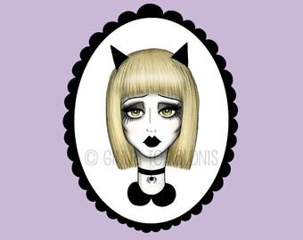Cat Girl - 4x5 Matte Photo Print