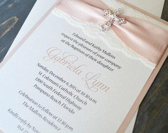 Baptism invitations Etsy