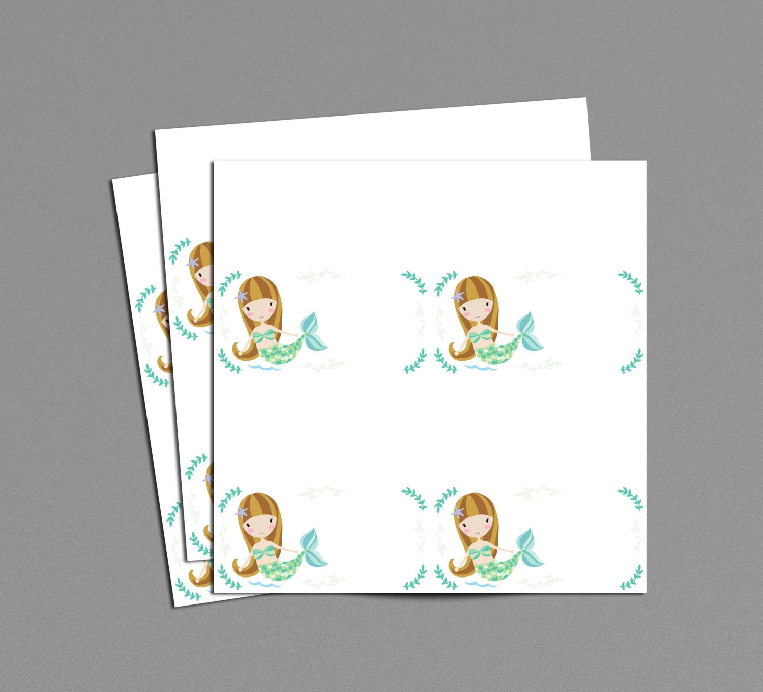 mermaid food tent labels printable instant download place