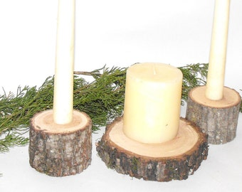 Unity Candle Holder Set ~ Tree Branch Unity Candle Holder ~ Wedding Candles ~ Rustic Wedding Decor ~ Wood unity candle holder ~ Rustic decor