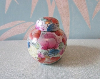 Miniature hand-painted Chinese ginger jar