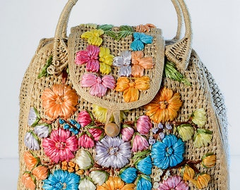 SALE - Raffia Large Tote/Beach Bag