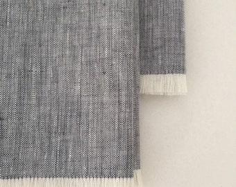 Grey Linen Napkins; Set of 4