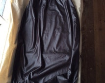 Vintage black wet look stretch underskirt M/L Candy Crush. Burlesque wear. Deadstock, new old stock.
