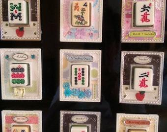 Mahjong Tile Magnet Mah jongg Gift or BUNCO prize BUNKO gift