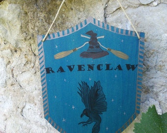 Harry Potter banner / / Hogwarts House Ravenclaw / / home decor, door plaque