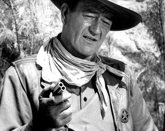 John Wayne Canvas Art Print Choice of sizes available.