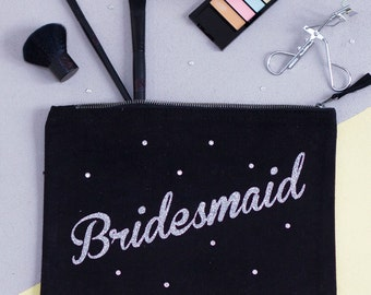 Personalised Secret Message Make Up Bag - Bridesmaid Gifts - Makeup Pouch - Gifts for Her - Gifts for Bridemaids - Gifts for Mum