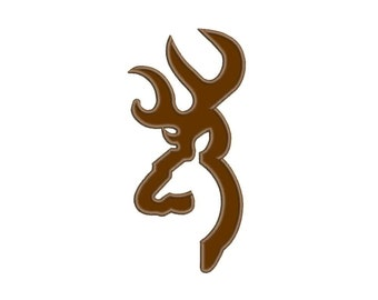 Buck Deer Applique Designs Machine Applique Embroidery Designs 10 Size - INSTANT DOWNLOAD