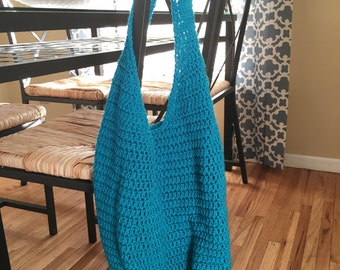 Reusable Bag, Market Tote, Market Bag, Reusable Tote, Reusable Grocery Bag, Blue Tote, Blue Bag, Beach Bag, Crochet Bag, Crochet Tote