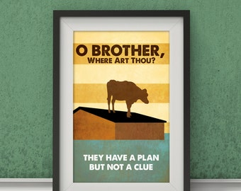 O' Brother Where Art Thou?-Inspired Movie Poster - Fan Art, Minimalist