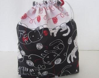 Knitting Kitties Knit Crochet Project Bag