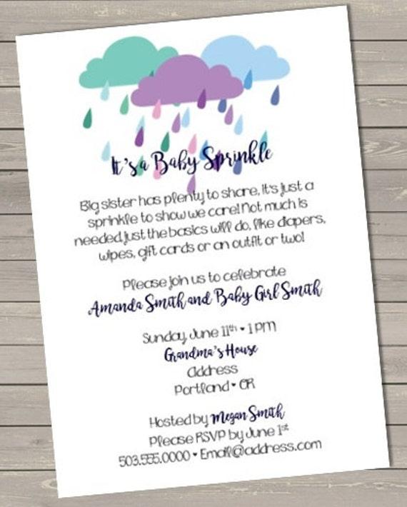 Sprinkle Baby Shower Invitation Printable File By
