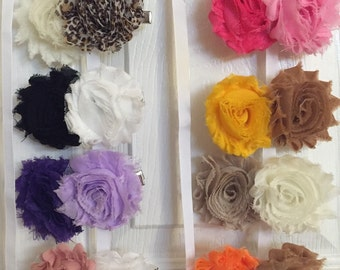 Shabby chic hair clips, Flower hair clip