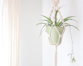 Single Macrame Plant Hanger- Braided