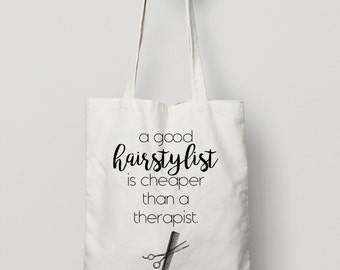 Hairstylist Tote Bag - Canvas Tote Bag - Cotton Tote Bag - American Apparel Tote Bag