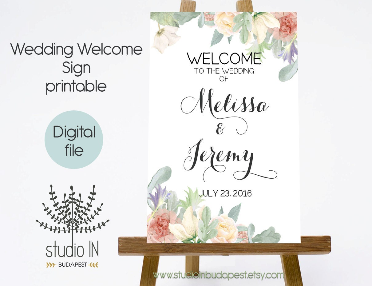 It is a photo of Punchy Free Printable Welcome Sign