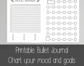 Printable Bullet Journal Pages A5 A4 US Letter 8.5x11