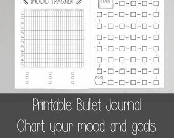 Extra Bullet Journal Pages - Goals - Achievements - A5 - US letter (8.5X11)