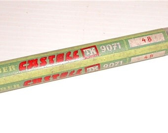 FABER CASTELL 60s Germany tube with graphite pencils refill rare 4b code 9071