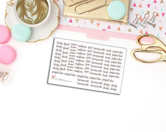 School & College Stickers // Planner Stickers